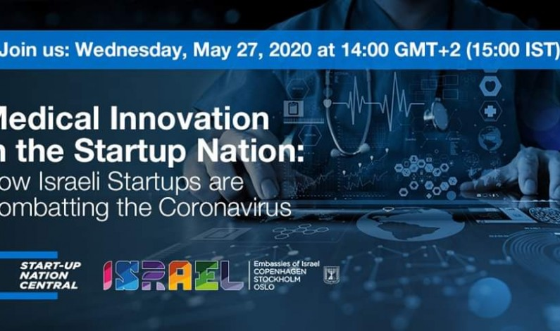 GRATIS WEBBINARIUM! Medical Innovation in the Startup Nation: How Israeli Startups are Combatting the Coronavirus